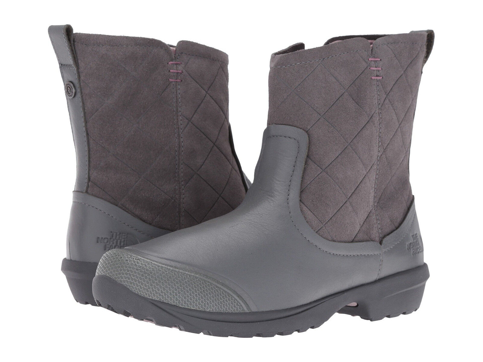 The North Face Grau Thermoball Metro Shorty Leder Waterproof Stiefel Gre 8 NEU