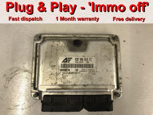Immo off Ford Galaxy VW Sharan 1.9tdi ECU 038906019 FC 0281010751 *Plug /& Play*
