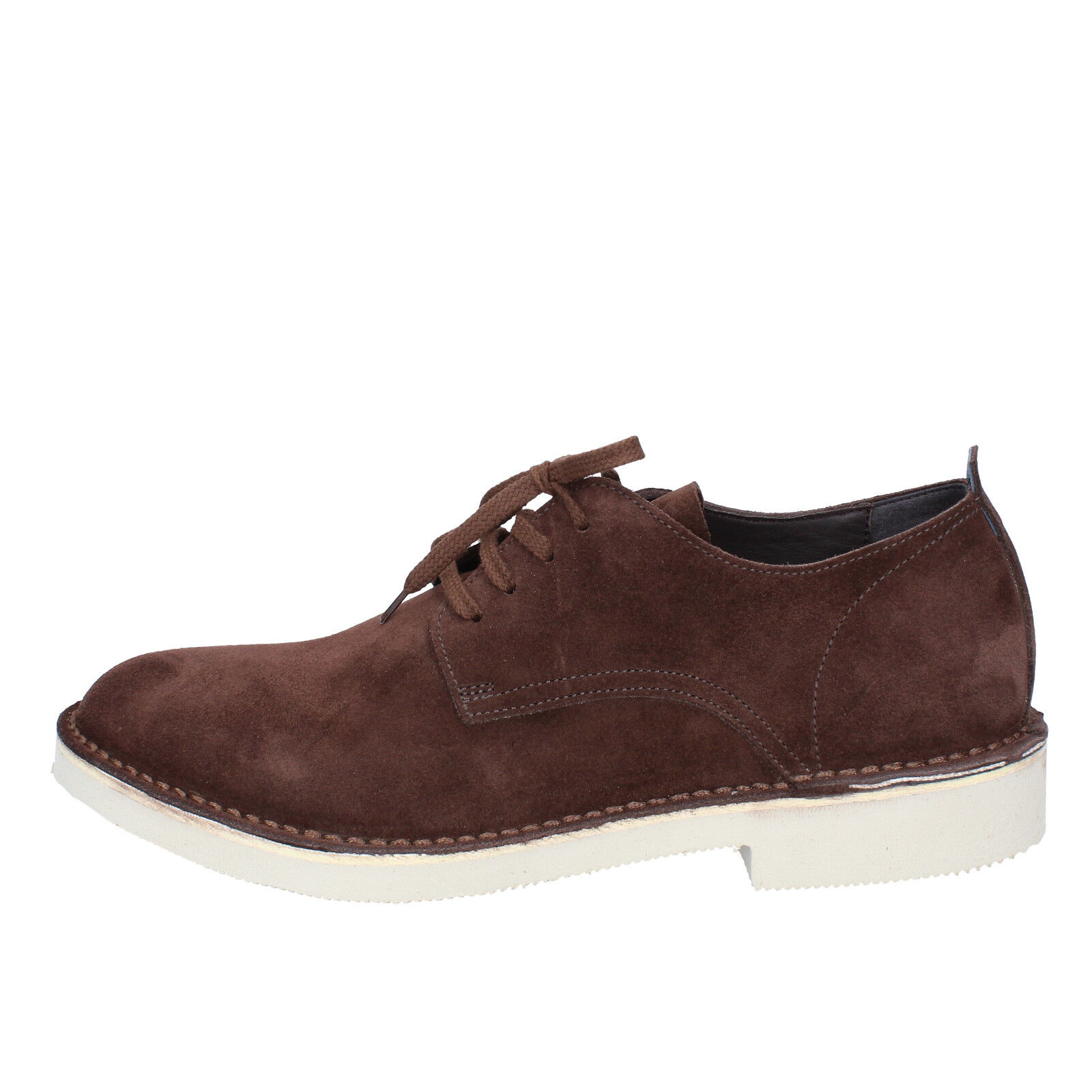 Men's shoes MOMA 10,5 (EU 43,5) elegant brown suede AB442-E