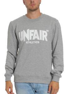 Athletics Unfr18 Grau Label 004 grassetto Grey Girocollo uomini Classic Felpa in Unfair vBII84