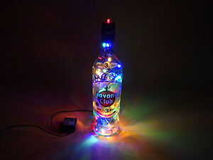 Havanna-Club-Flaschen-Lampe-mit-80-LEDs-Warmweiss-UND-Multicolor-UMSCHALTBAR