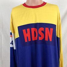 Hudson Outerwear Sport Black 45 Long Sleeve T-Shirt XXL Blue Yellow Streetwear