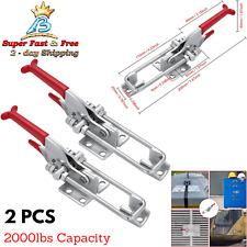 Heavy Duty Adjustable Latch U Bolt Self Lock Toggle Clamp 2 Pack 2000lb Capacity