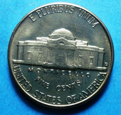 1 Of 2FREE Shipping 1956 D BU Jefferson Nickel Brilliant Uncirculated Nice