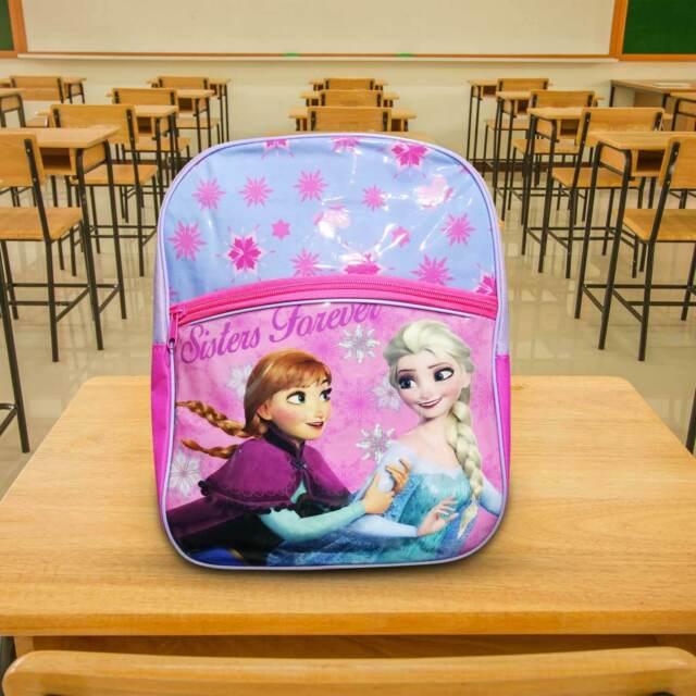 Zaino Frozen bimba scuola asilo bambina  Elsa /& Anna cartoni azzurro Disney28x35