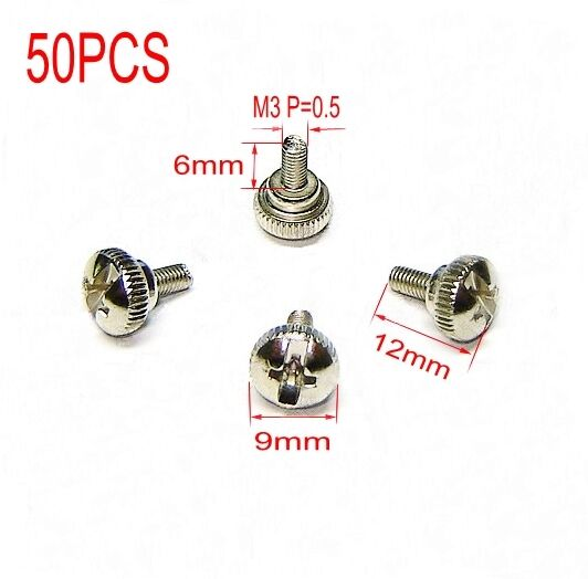 50 Thumb Screw M3x6mm M3 For DIY Computer PC case Sil