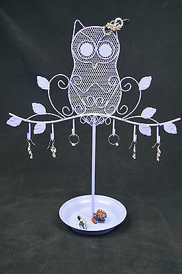 Owl Jewelry Stand Earrings Necklace Ring Ornament Holder Display