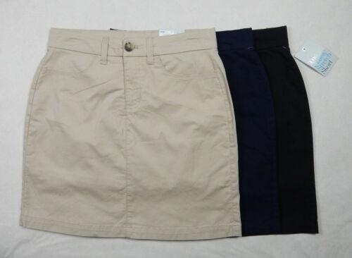 NEW Croft /& Barrow Classic Stretch Womens Khaki Navy Black Skort Skirt w//Shorts