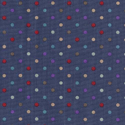 Polka Dot Multi Colour Linen Look 100/% Cotton Fabric 110cm Wide Fine Weave
