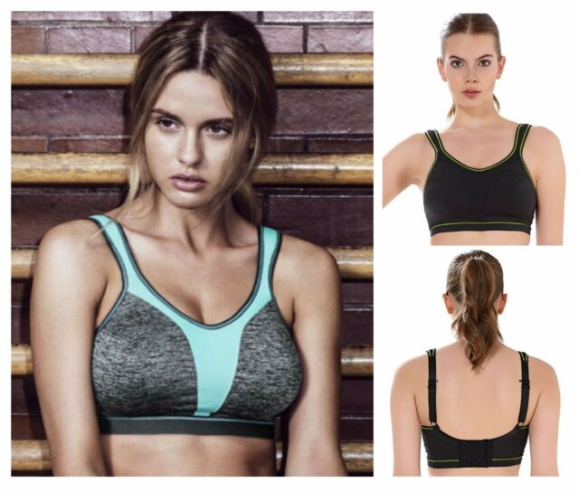 67299eef45839 New Freya Force Active Non Wired Soft Cup Sports Bra 4000 Black or Carbon  Grey
