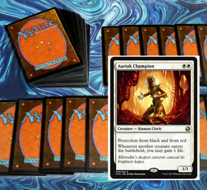 mtg-WHITE-LIFE-GAIN-DECK-Magic-the-Gathering-rares-60-cards-auriok-champion