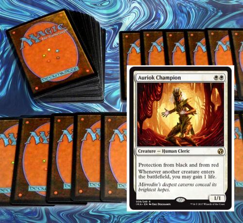 mtg WHITE LIFE GAIN DECK Magic the Gathering rares 60 cards auriok champion