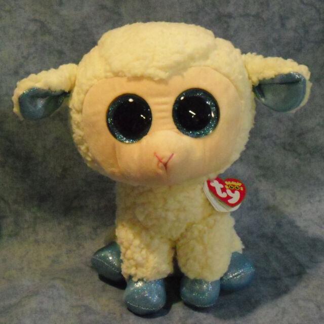 6e55dca7177 Ty Beanie Boos Glubschi Sheep Olga 24 Lamb Cm Glitter Eyes White Blue