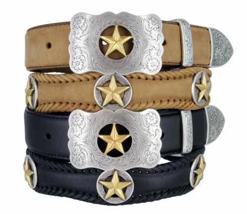 """Gold Star-Western cowboy en cuir Jean ceinture large 1-1//2/"""""""