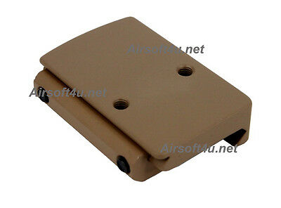 Ruggedized Miniature RMR Red Dot Reflex Low Picatinny Rail Mount In Tan