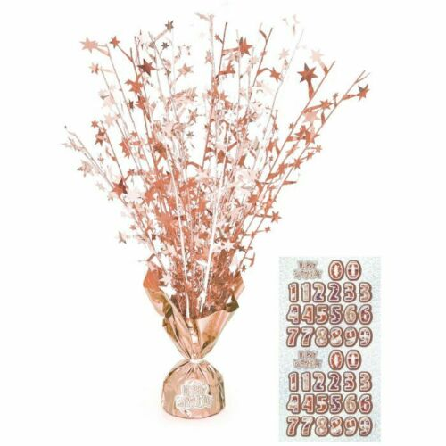 Rose Gold Happy  Birthday Girl Party Supplies Tableware /& Decorations Glitz