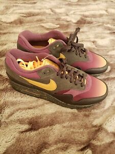 Details about Nike Air Max 1 Premium PRO PURPLE BLACK GOLD FADE ANTHRACITE 875844 002 Size 8.5