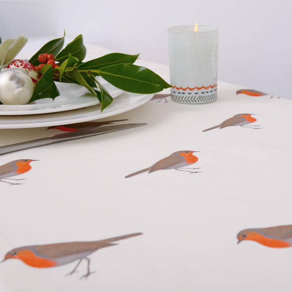 Di Lusso Design Natale Tovaglia Cotone Scelta Delle Lunghezze Vintage Pettired