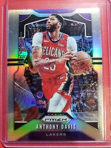 2019-2020-Panini-Prizm-Silver-ANTHONY-DAVIS-REFRACTOR-222-LA-LAKERS-SP