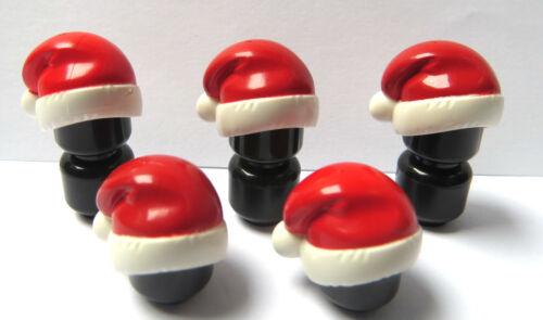 Lego 5 Sombreros Sombrero de Santa rojo para la Serie de Navidad Papá Noel Minifigura