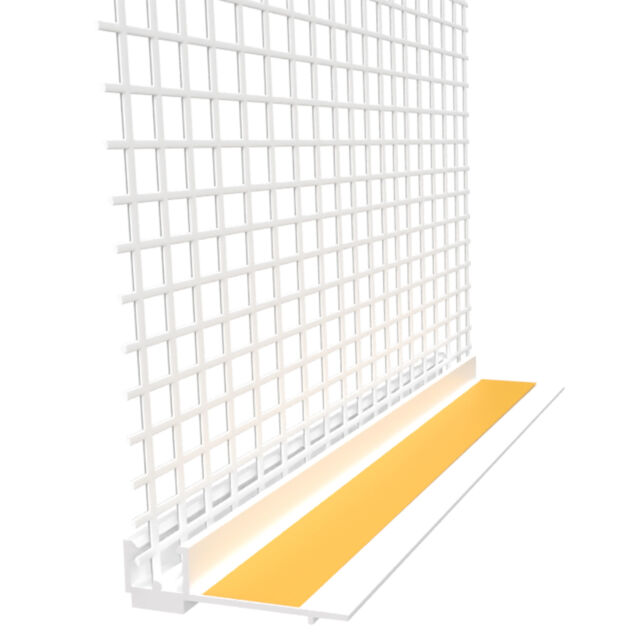Anputzleiste Gewebe 6 mm 2,4 m Fensterlaibung 240 cm Laibung Laibungsprofil