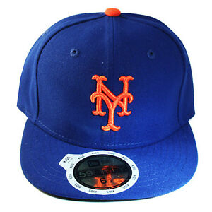 97409dfaa8773 New Era MLB New York Mets 5950 Youth Fitted Hat Official Kid s ...