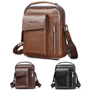 Men-039-s-Leather-Messenger-Bag-Waterproof-Handbag-Cross-Body-Tote-Shoulder-Satchel