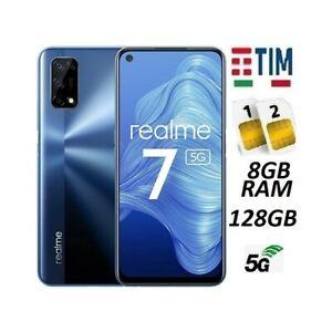REALME 7 5G DUAL SIM 128GB 8GB RAM BLUE GARANZIA ITALIA BRAND TIM