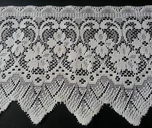 Cream-Cotton-Lace-Trim-Trimming-Edging-Vintage-20-cm-8-Inch-Width-Sold-Per-Mtr
