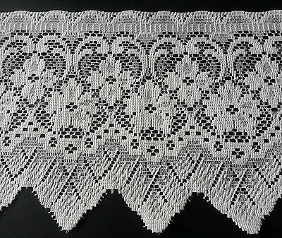 "Lace Market 1 Metre French White Lace Trim Craft Sew Edging 5 cm 50 mm 2/"" Width"