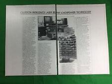 press magazine cutting 1981 Celestion loudspeaker company laser beam technology