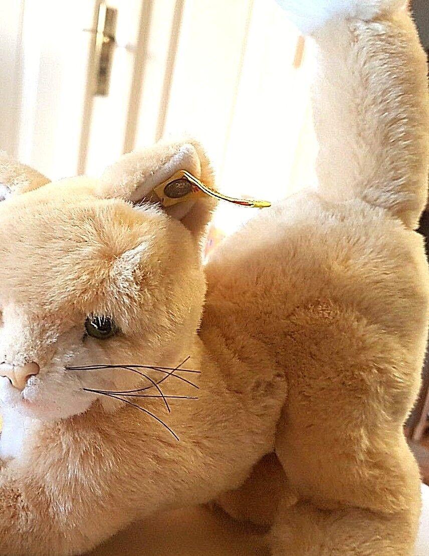 Steiff 5442/22 - Katze Milla 23 cm lang braun KFS wie NEU + super kuschlig