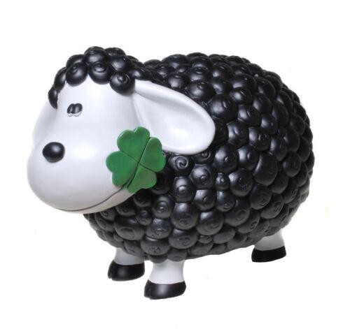 Dekofigur Schaf Steffi Schwarz Deko Tier Figuren für Haus und Garten Dekoration