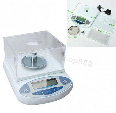 200x0.001g Analytical Electronic Balance Lab Digital Scale Range 200g Precison 1mg High Precision LCD Rechargeable w//Power Cable USA