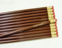 24 Round brown Personalized Pencils