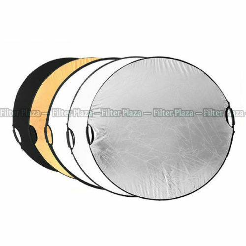 "NEW Handheld 110cm 43"" 5 in 1 Light Multi Collapsible Photo Reflector Board Disc"