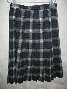 04e53e0825 Vintage 70's Pendleton Skirt Size 6 Preppy Tartan Plaid Wool Kilt ...