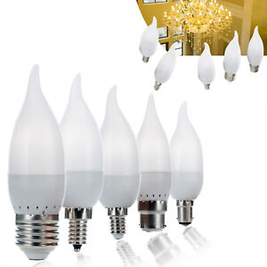 LED Bulb Chandelier Flame Candle Light E12 E26 E27 B22 E14 15 Watt Equivalent
