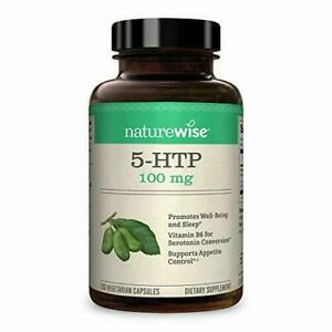 NatureWise 5-HTP 100mg   Natural Mood & Sleep Support   Curbs Appetite to...