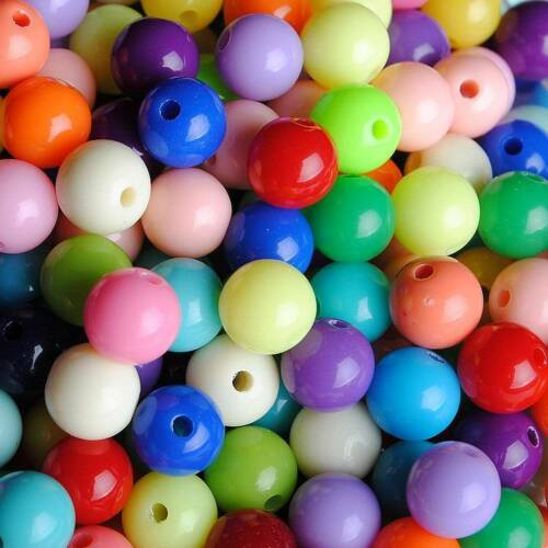 6-20mm Lots Candy Color Mixed Acrylic Round Ball Spacer Beads Jewelry Making DIY