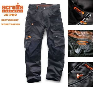 Scruffs-3D-PRO-Trousers-High-Quality-Trade-Worker-Trousers-Graphite-Grey