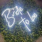 Large Neon Sign, Bride to be White Wedding Led Neon Sign Light for Kids 23inch
