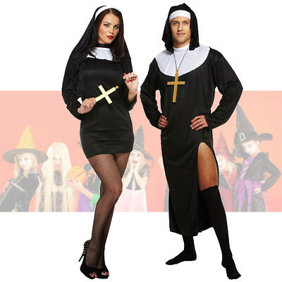 Adult Mens Nun Novelty Sister Habit Stag Do Fancy Dress Costume Outfit U37 164