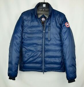 Mens-Canada-Goose-Lodge-Jacket-Size-Small-S-Blue-Puffer-100-Authentic
