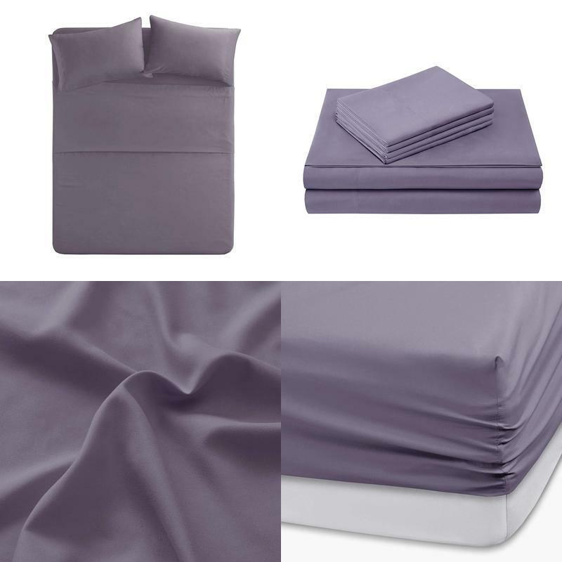 Hypoallergenic Microfiber Sheet Set 6 Piece Queen Size Fade Stain Resistant