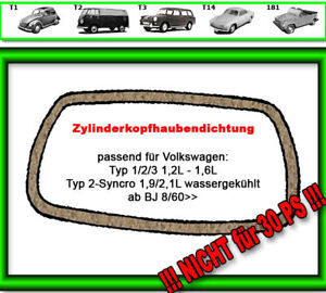 VW-Kaefer-2-Ventildeckeldichtung-8-60-ausser-30-PS