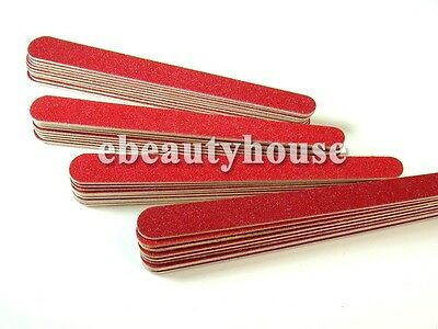 40 x Manicure Sanding File Wood Buffer Nail Art Grit 240 #041F1