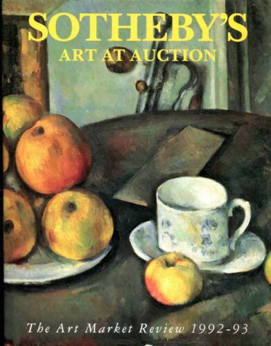 1 of 1 - Sotheby's SOTHEBY'S ART AT AUCTION 1992-93 : THE ART MARKET REVIEW Hardback BOOK