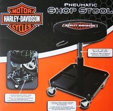 Harley Davidson HD Stool shop work bench garage swivel top tool tray roller bar