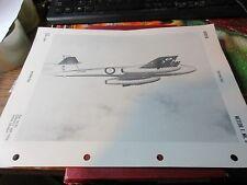 Militaria - 1950 War Plane/Jet Officil ID Sheet OPNAV 32P-1200 - Meteor F.MK.8